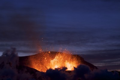 Eyjafjallajökull erupting