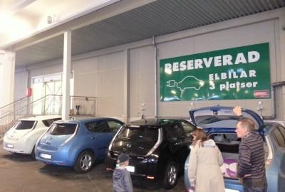 Elbil parking @ Nordby