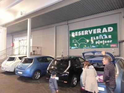 Electric car parking at Nordby köpcenter, an update/rectification