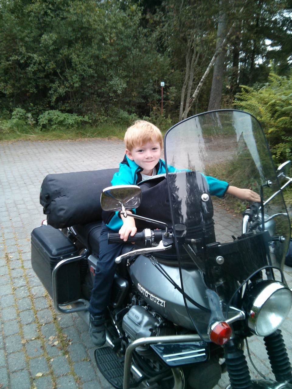 A friend of mine from the Netherlands was visiting. Jacob _really_ liked his means of transportation!