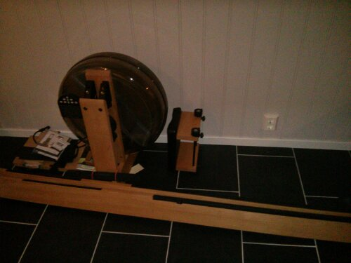 WaterRower assembly, take 1 – fail