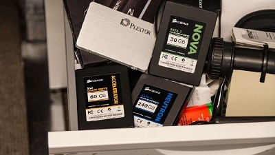 SSD's in drawer