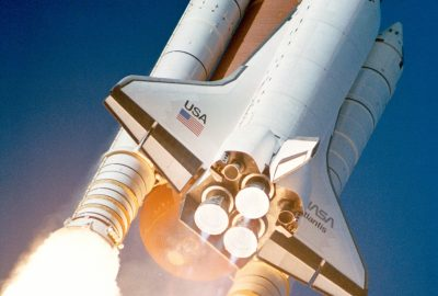 Space Shuttle during launch