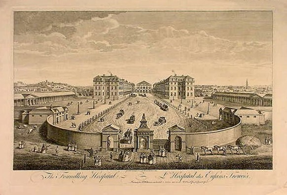 Philanthropy: The Foundling Hospital in London, England was founded in 1739 by the sea captain Thomas Coram.