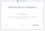 Google Partners - AdWords Search Certification