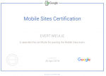 Google Partners - Mobile Sites Certification