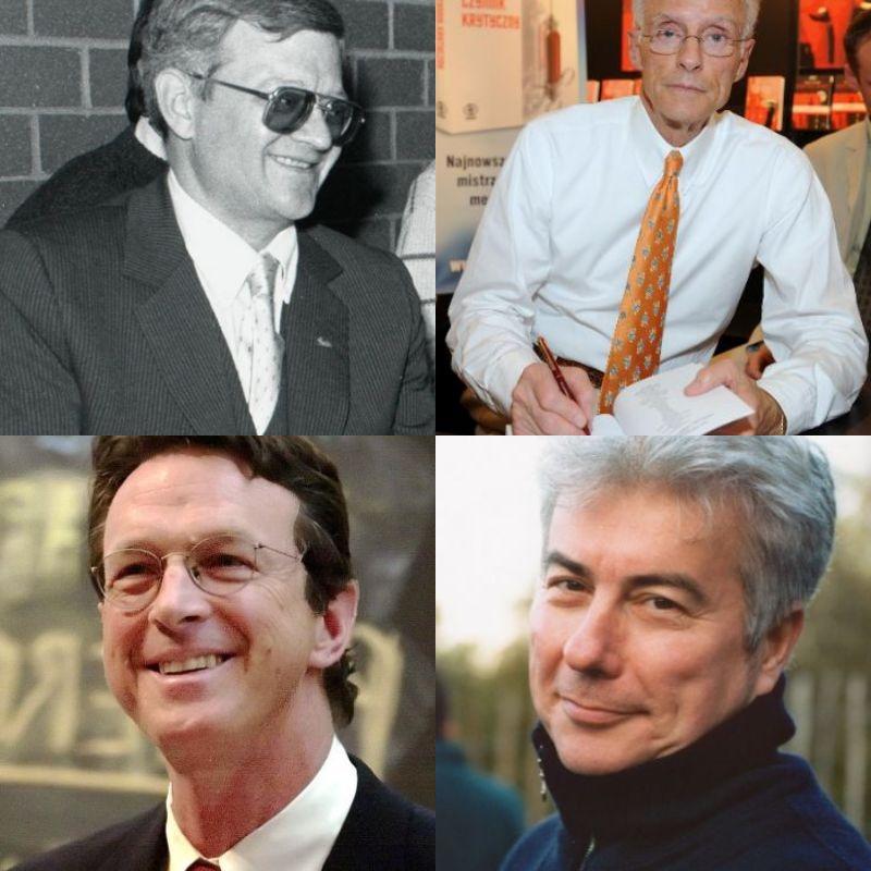 Tom Clancy, Robin Cook, Michael Crichton, Ken Follett